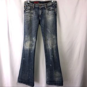 AG ANGEL DISTRESSED RARE FLARE JEANS SZ 30R